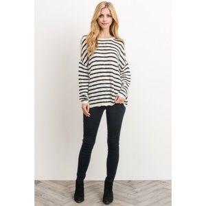 likeNarly Tops - ANNABELLE Lightweight Striped Sweater